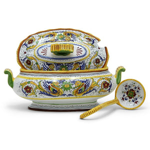 RAFFAELLESCO DELUXE: Oval Soup Tureen with Ladle