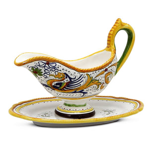 RAFFAELLESCO: Gravy Sauce Boat with Tray