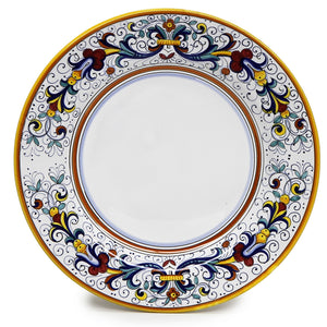 RICCO DERUTA: Dinner Plate (White Center)