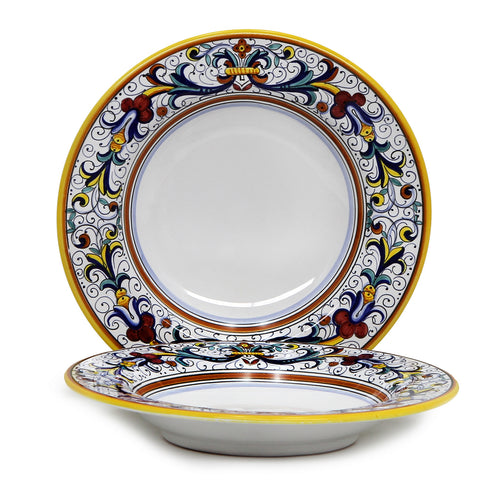 RICCO DERUTA: Rim Pasta Soup plate (White Center)