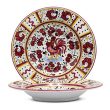 ORVIETO RED ROOSTER: Rim Pasta Soup plate