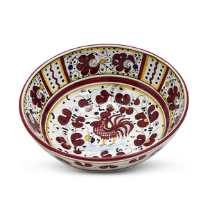 ORVIETO RED ROOSTER: Salad Bowl (Medium) 10""