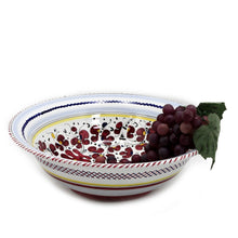 ORVIETO RED ROOSTER: Large Pasta/Salad Serving Bowl