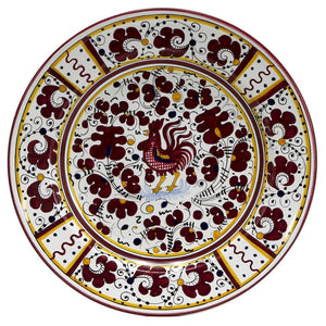 ORVIETO RED ROOSTER: Large Serving Charger Platter [R]