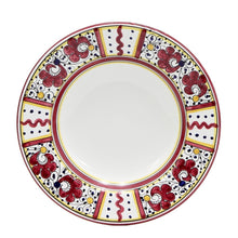 ORVIETO RED ROOSTER: 4 Pieces Place Setting - White center