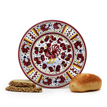ORVIETO RED ROOSTER: Small Bread Plate