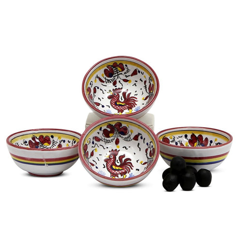ORVIETO RED ROOSTER: Small Condiment Bowl (1 Cup)