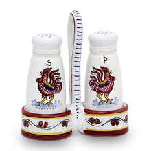 ORVIETO RED ROOSTER: Salt and Pepper Cruet