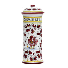 ORVIETO RED ROOSTER: Spaghetti Container Canister