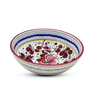ORVIETO RED ROOSTER: Coupe Pasta Soup Bowl