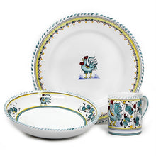 ORVIETO GREEN ROOSTER: 3 Pieces Place Setting