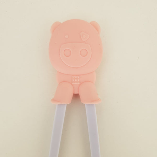 Happy Pig Training Chopstick in Pink