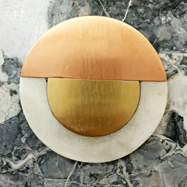 4 x Goa Copper, Gold & Marble Coasters