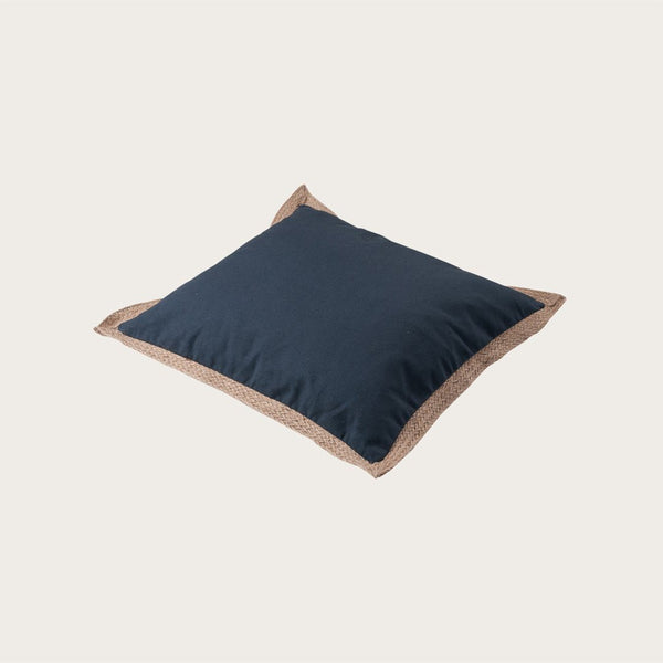 Terem Jute Cushion Cover in Navy Blue