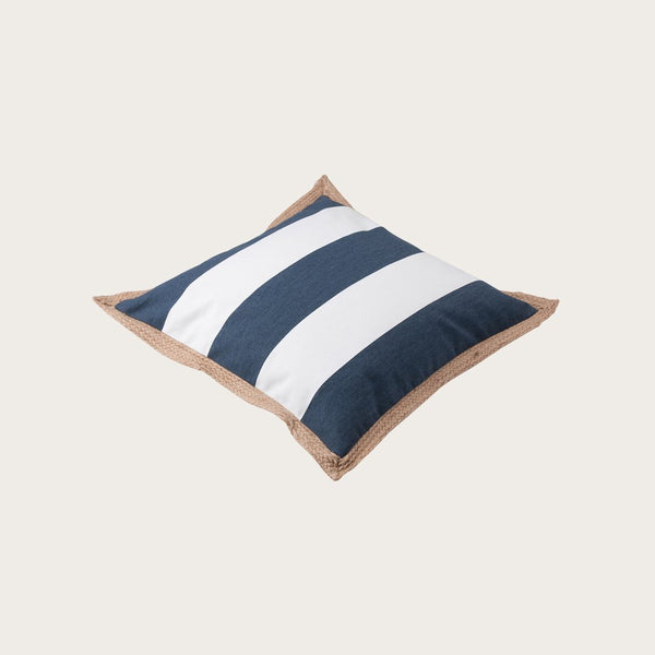 Terem Jute Cushion Cover in Dark Blue
