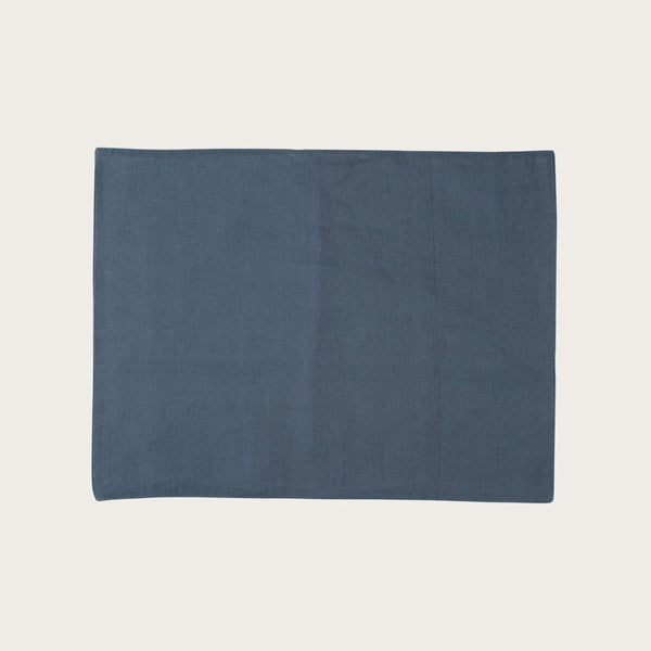 Quincy Linen Placemat in Navy Blue