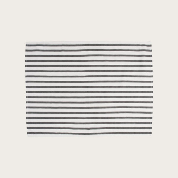 Jackson Cotton Tea Towel in Natural Stripe
