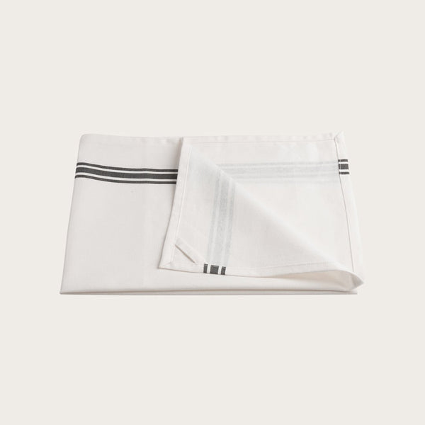 Jackson Cotton Tea Towel in White Stripe