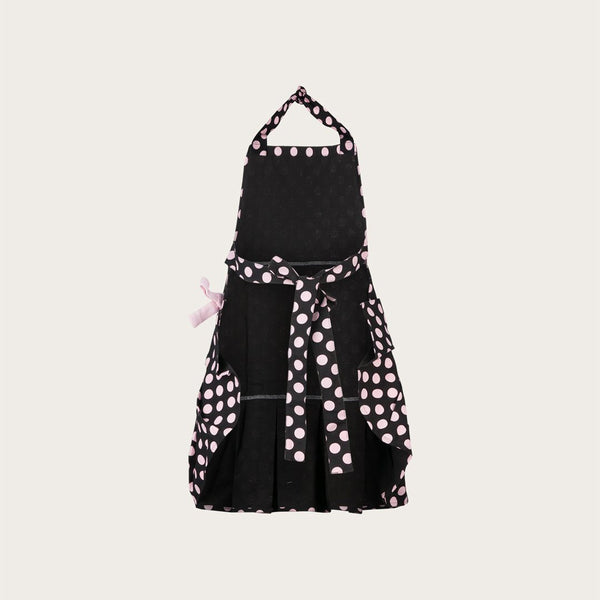 Munroe Vintage Cotton Apron in Pink Polka Dot