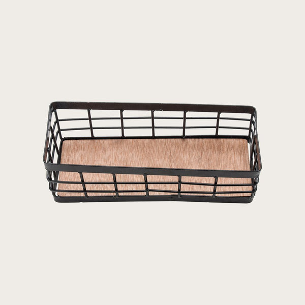 Percy Wire Storage Basket in Black