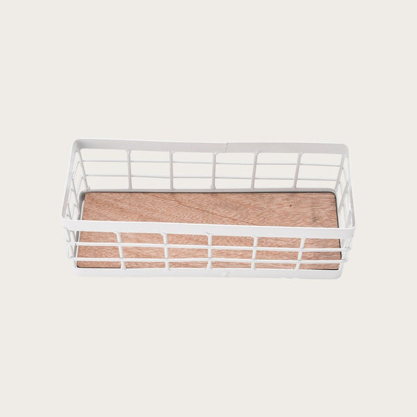 Percy Wire Storage Basket in White