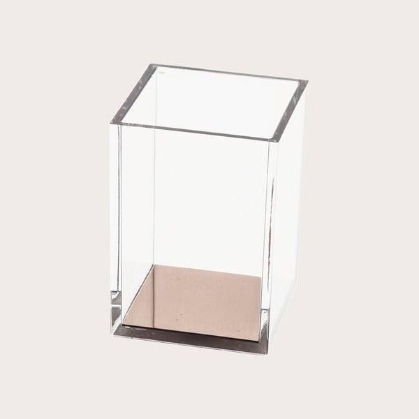 Paige Clear Pen Holder in Gold