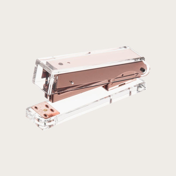 Paige Clear Stapler in Rose Gold