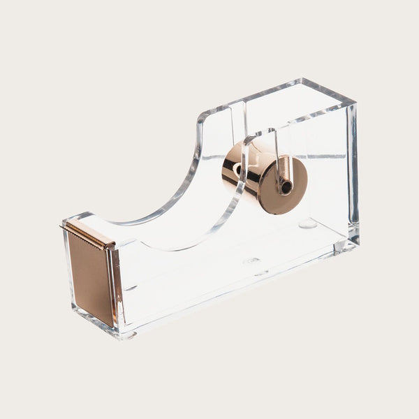Paige Clear Sticky Tape Holder in Gold