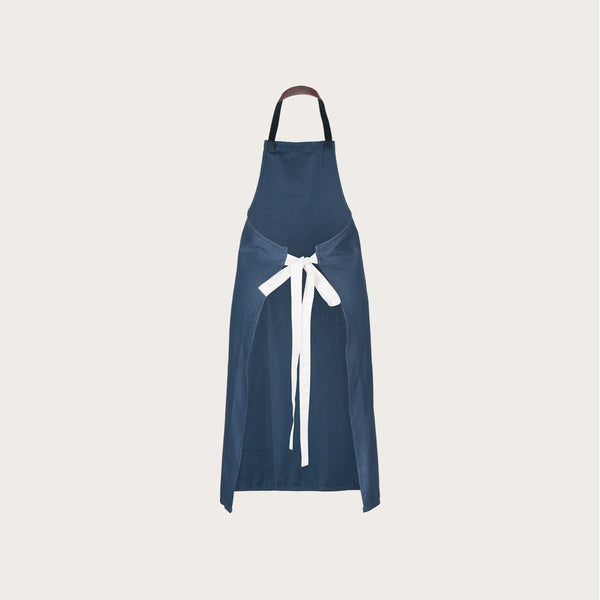 Hayes Cotton Apron in Navy Blue