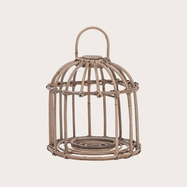Clivia Small Woven Lantern in Grey