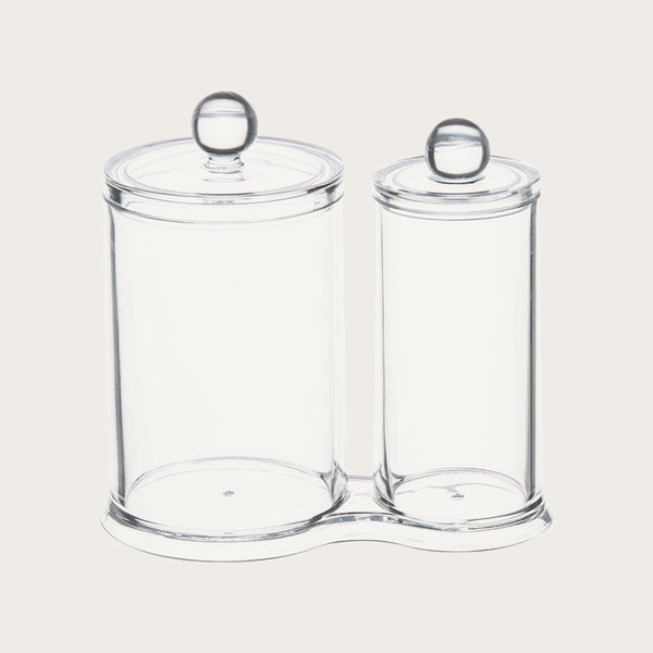 Christina Acrylic Cosmetic Holder Set of Two