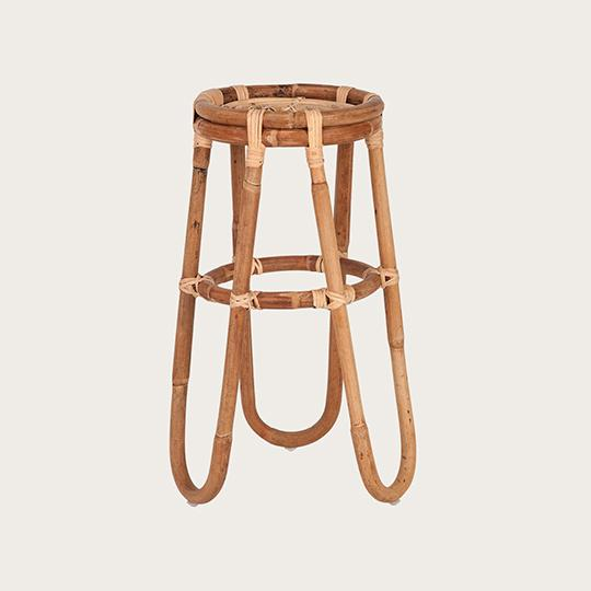 Sefina Medium Rattan Plant Stand in Natural