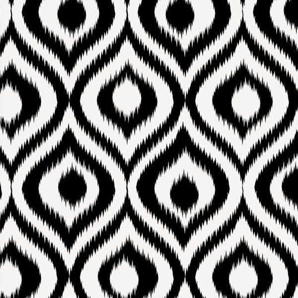 Black & White Ikat Paper Napkins