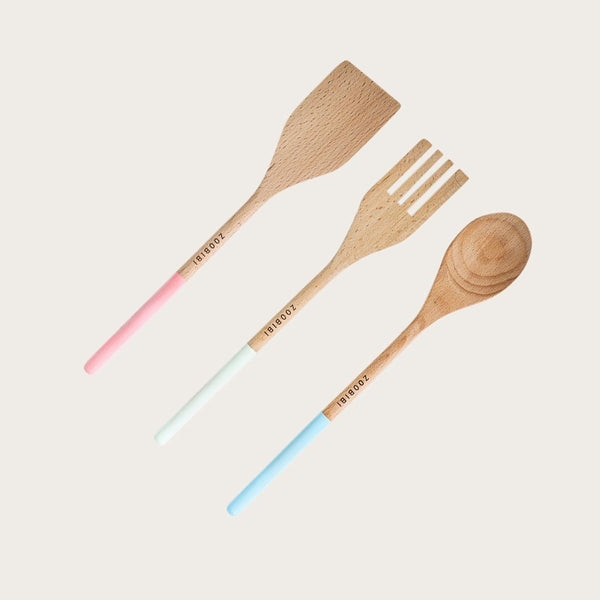 Azibo 3 Piece Wooden Utensil Set