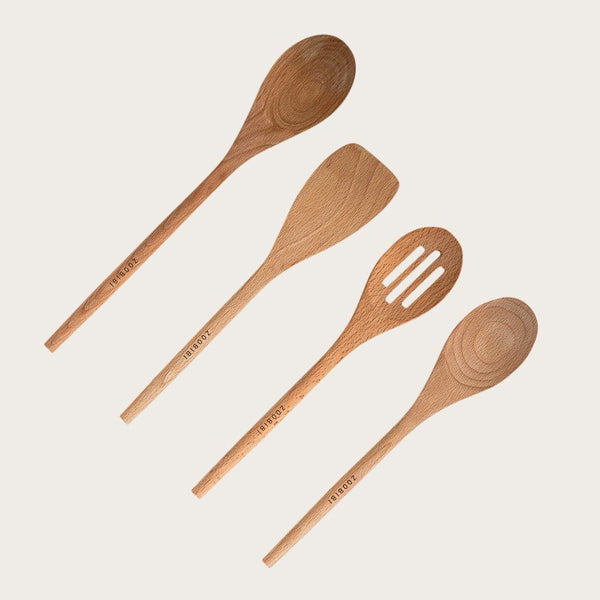 Adana 4 Piece Assorted Wooden Spoon Set