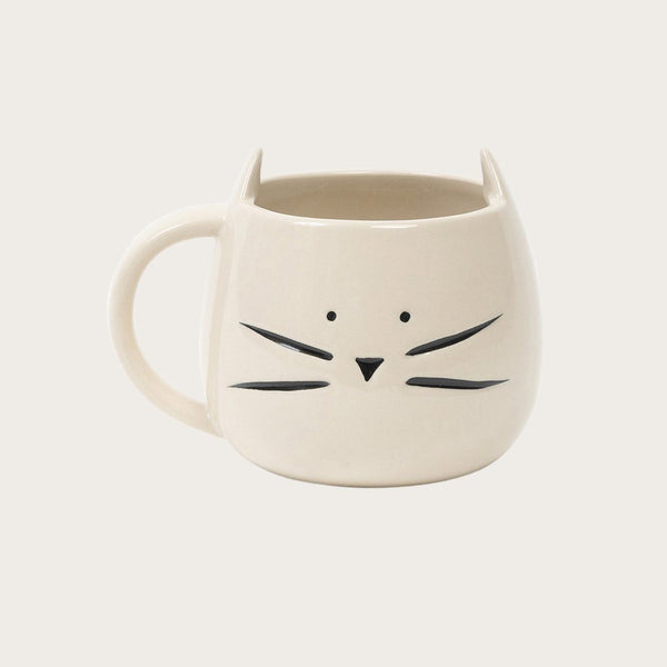 Minti Ceramic Coffee Mug in White