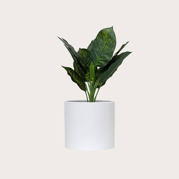 Serra Large Plant Pot in White