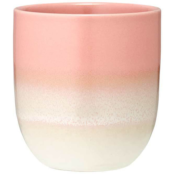 Latte Stoneware Coffee Mug in Ombre Pink