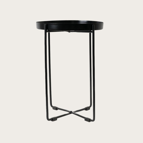 Allo Small Side Table in Black