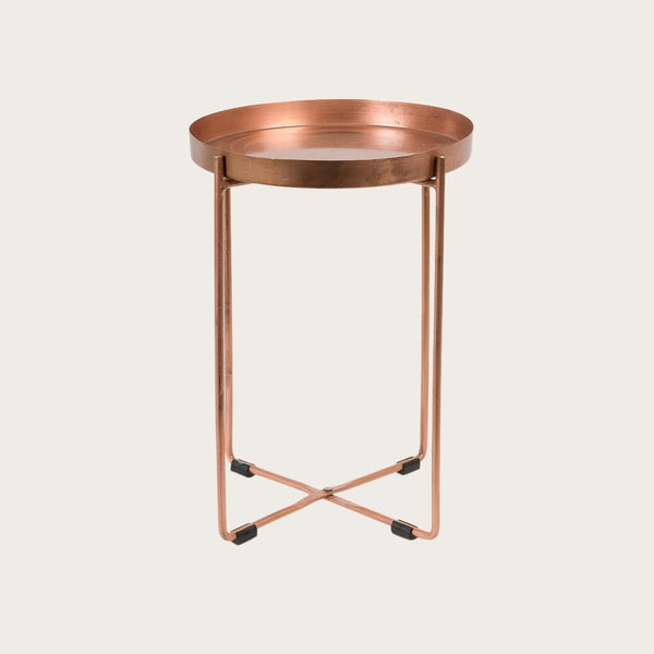 Allo Small Side Table in Copper