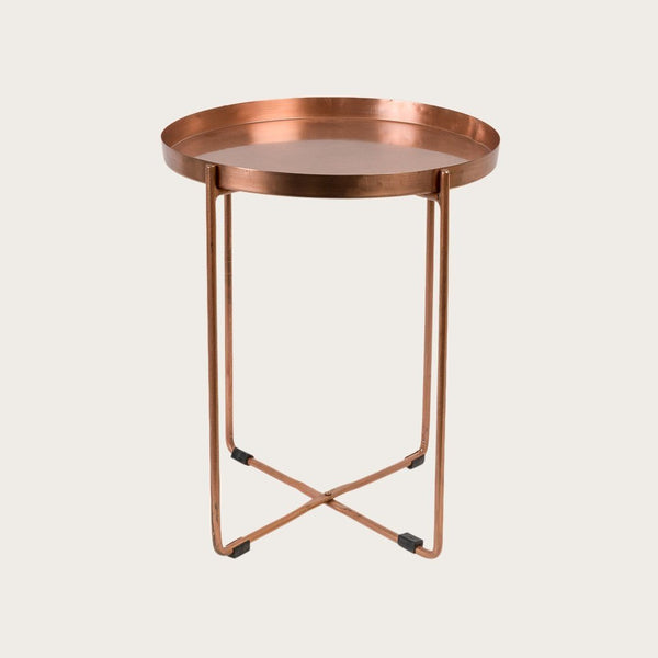 Allo Large Side Table in Copper