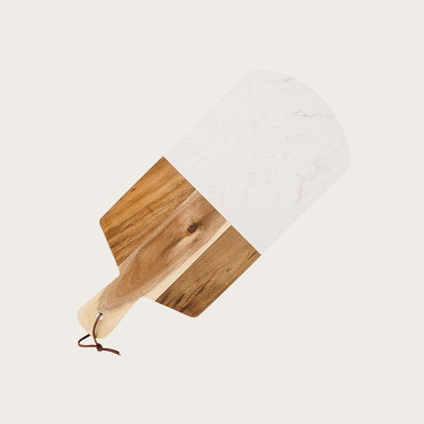 Anais Marble and Acacia Wood Cutting Board