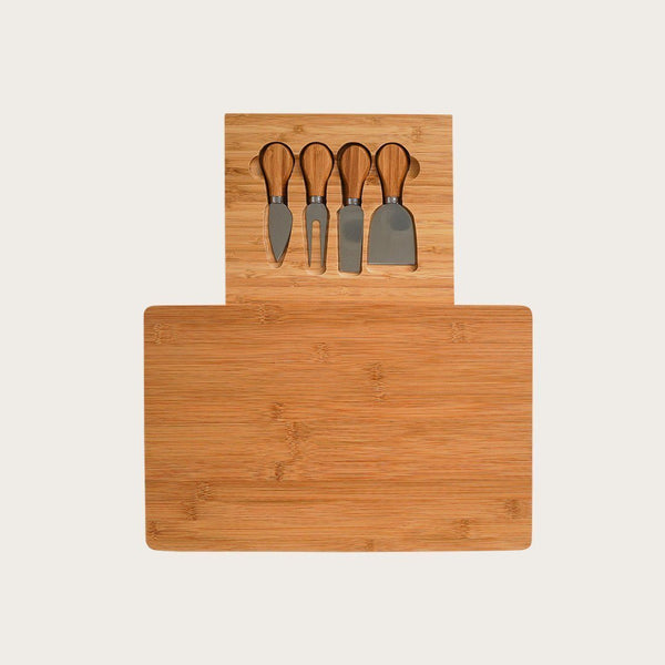 Lourde 5 Piece Cheese Tools with Wooden Board