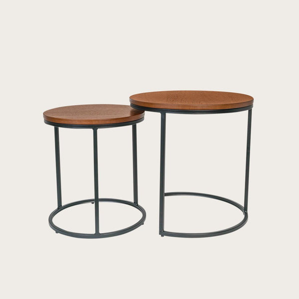 Brigitta Nesting Side Tables in Walnut