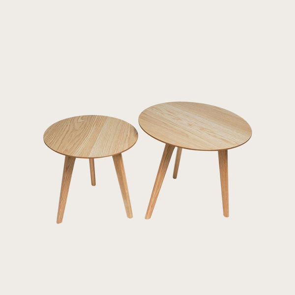 Set of 2 Lund Coffee Tables in Oak