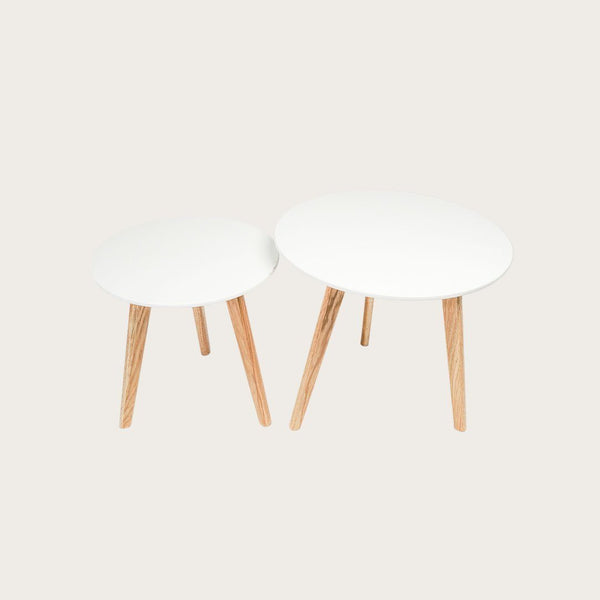 Set of 2 Lund Coffee Tables in White