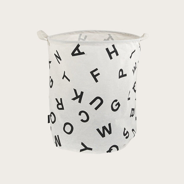 Garbi Canvas Storage Basket in Letter Print