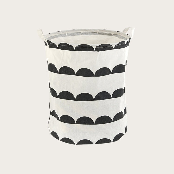 Garbi Fabric Storage Basket in Semi Circle Print