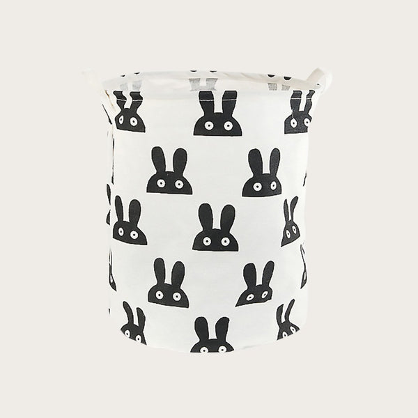 Garbi Fabric Storage Basket in Rabbit Print