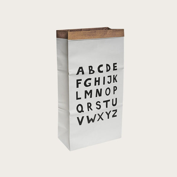 Dana Kraft Paper Storage Bag In Letter Print